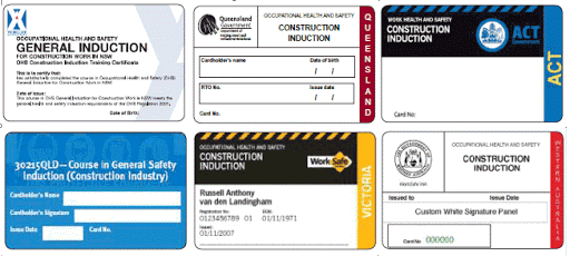 All States Consrtruction Induction White Card